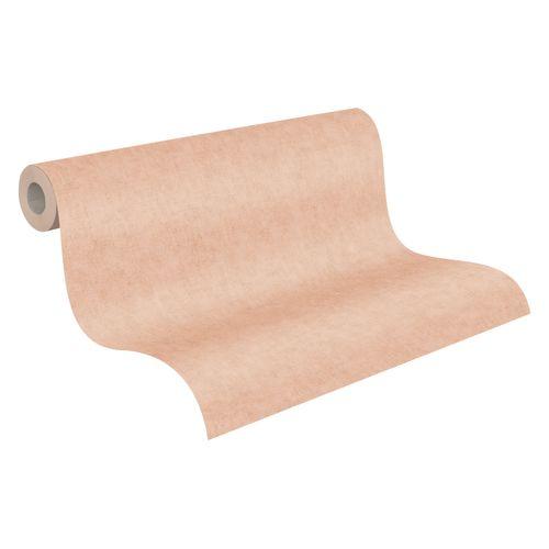 Tapete Vlies Textil Uni lachs-rosa Geo Nordic 37535-7 online kaufen