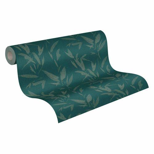 Wallpaper non-woven palms dark green bronze 37549-1   375491