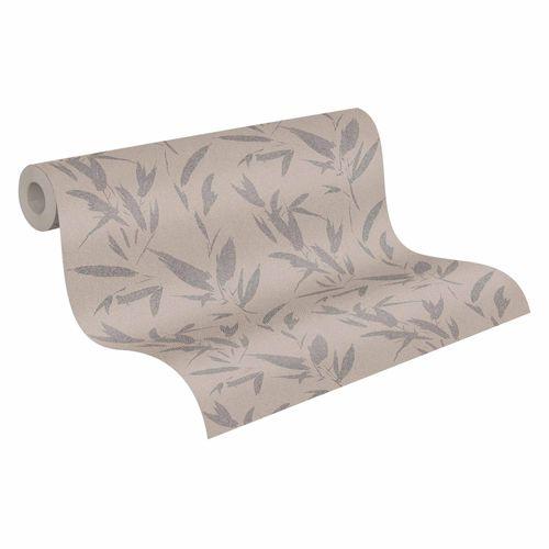 Wallpaper non-woven palms beige silver 37549-3   375493