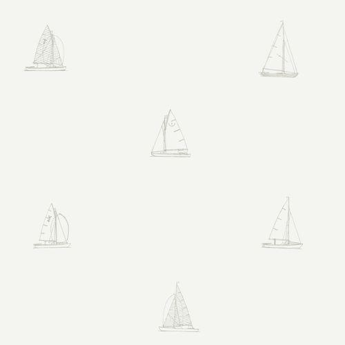Tapete Vlies weiß greige Maritim 072044
