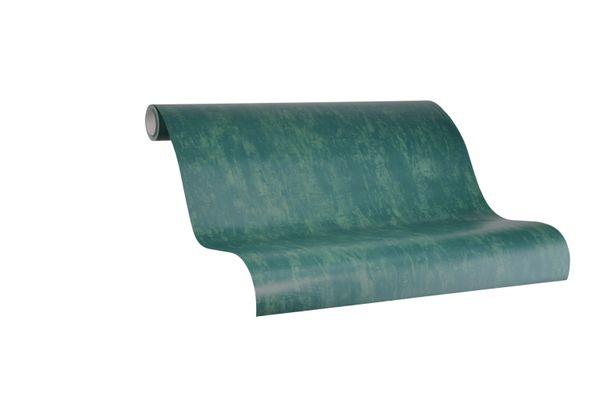 Tapete Vlies Marburg Struktur grün metallic 84873
