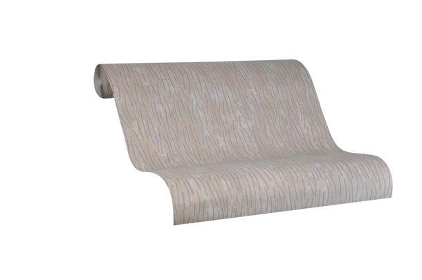Tapete Vlies Marburg Striche beige grau metallic 84875