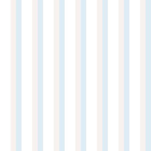 Kindertapete Papier Streifen weiß grau blau 102311