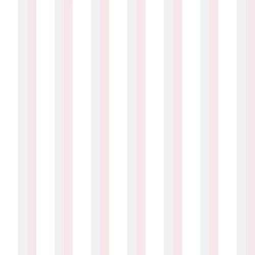 Kindertapete Papier Streifen weiß rosa grau 102312
