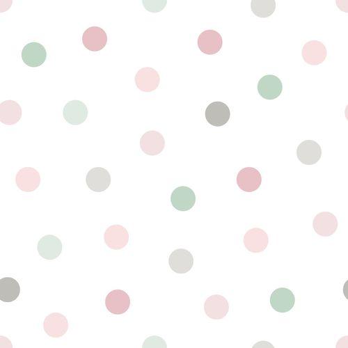 Tapete Vlies Kinderzimmer 139040 Kreise weiß rosa grau online kaufen
