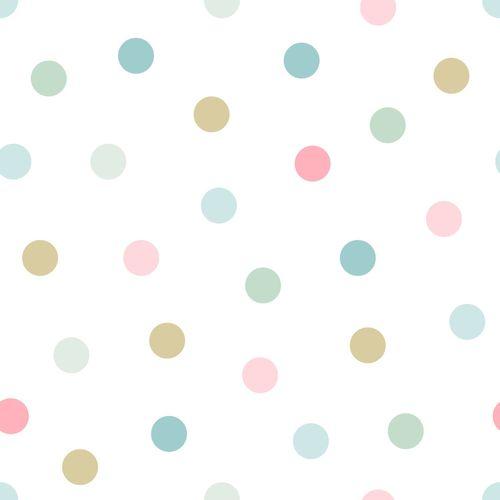 Tapete Vlies Kinderzimmer 139041 Kreise weiß grün rosa online kaufen