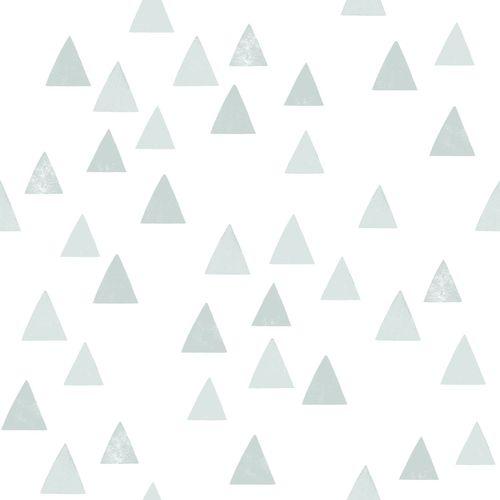 Tapete Vlies Kinderzimmer 139056 Dreiecke weiß grau-grün online kaufen