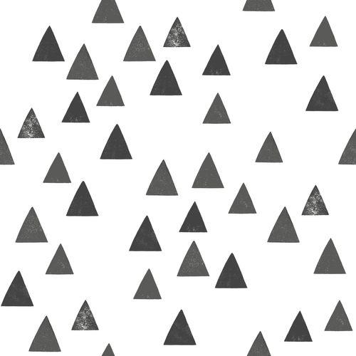 Tapete Vlies Kinderzimmer 139057 Dreiecke weiß schwarz online kaufen