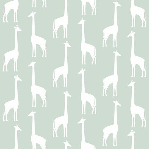 Tapete Vlies Kinderzimmer 139058 Giraffen grün weiß online kaufen