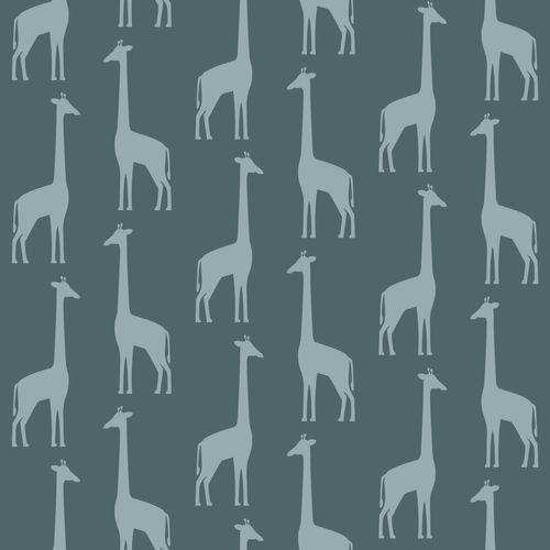 Tapete Vlies Kinderzimmer 139061 Giraffen grau-blau online kaufen