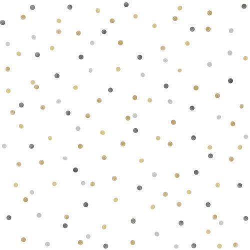 Tapete Vlies Kinderzimmer 039050 Punkte weiß grau gelb beige online kaufen