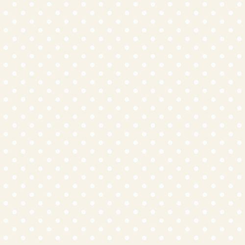 Kindertapete Vlies 346817 Pünktchen silber weiß Glanz