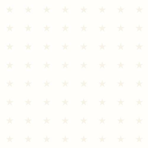 Kindertapete Vlies 346828 Sternchen weiß silber Glanz