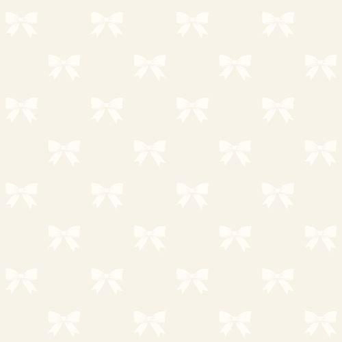Kindertapete Vlies 346845 Schleifen silber weiß Glanz