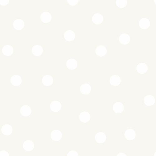 Kindertapete Vlies 347513 Punkte silber weiß Glanz