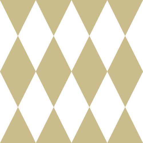 Kindertapete Vlies 347669 Karo weiß gold Glanz