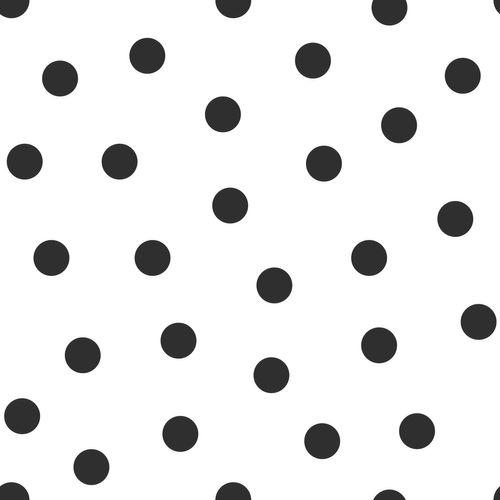 Kindertapete Vlies 347675 Punkte weiß schwarz