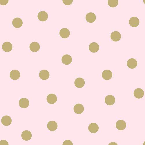 Kindertapete Vlies 347677 Punkte rosa gold Glanz