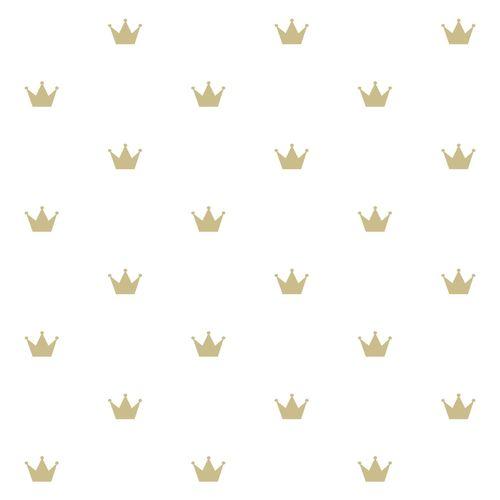 Kindertapete Vlies 347678 Prinzessin weiß gold Glanz