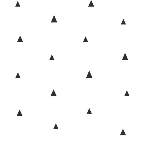 Kindertapete Vlies 347681 kleine Dreiecke weiß schwarz