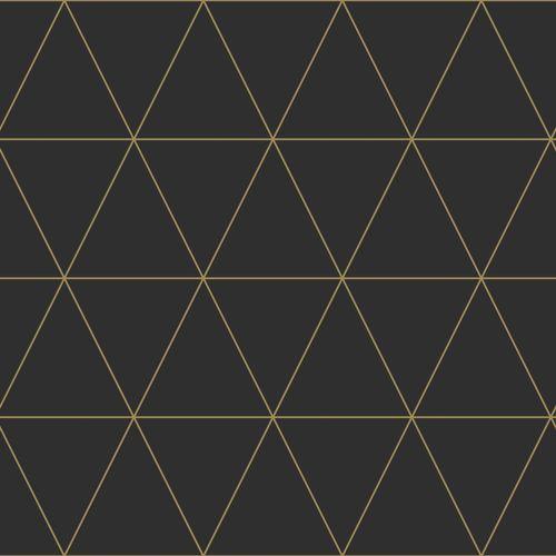 Kindertapete Vlies 347684 grafische Kacheln schwarz gold