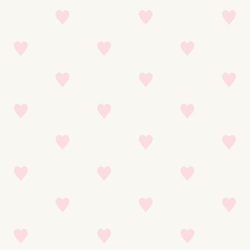 Kindertapete Vlies 347705 Herzchen silber rosa Glanz