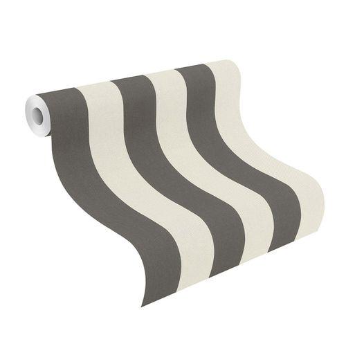 Tapete Vlies 542752 Streifen weiß schwarz online kaufen