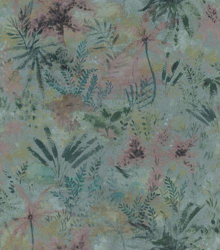 Tapete Vlies 543056 Floral blau rosa grün