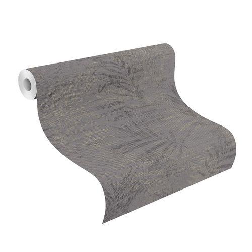 Tapete Vlies 546620 Farn anthrazit silber online kaufen