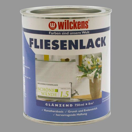 Wilckens Tile Lacquer Varnish Paint Lightgrey 750ml