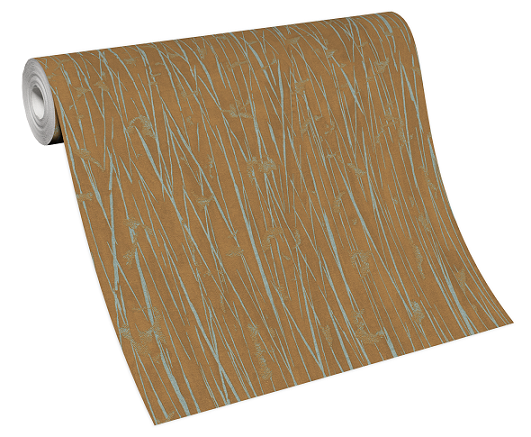 Tapete Vlies 10123-11 Streifen Bambus braun grau
