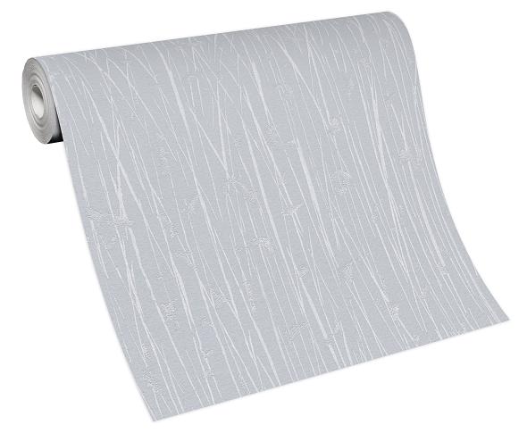 Tapete Vlies 10123-31 Streifen Bambus blau-grau