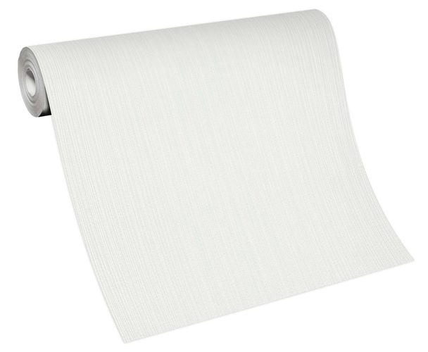 Tapete Vlies 10133-01 Einfarbig weiß