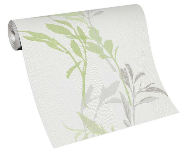 Wallpaper non-woven 10138-07 branch floral white green grey