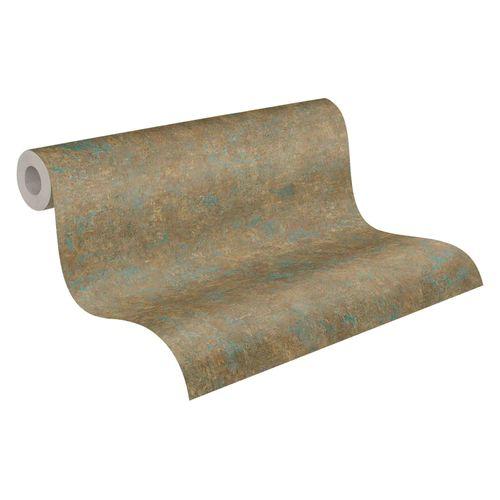 Tapete Vlies meliert Einfarbig bronze blau 37655-9