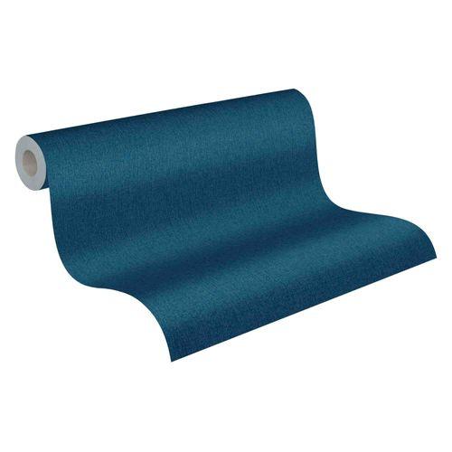 Tapete Vlies 37521-6 Einfarbig blau