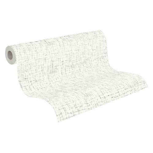 Tapete Vlies 37524-2 Textur weiß grau