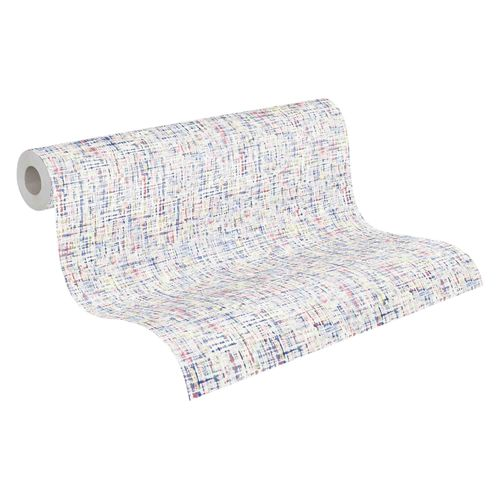 Tapete Vlies 37524-4 Textur weiß bunt