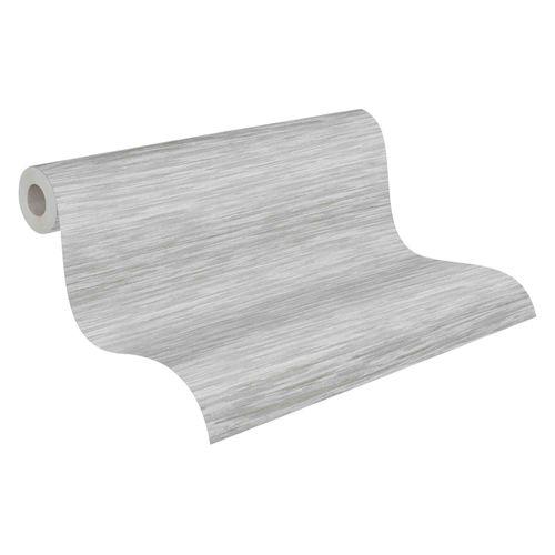 Tapete Vlies 37525-3 Streifen grau weiß