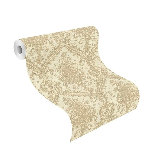 Tapete Vlies Rasch Ornamente beige gold Metallic 420524