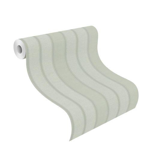 Non-Woven Wallpaper Block Stripes grey silver 421040
