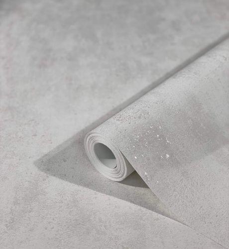 Tapete Vlies Putz-Optik Metallic weiß grau 32611