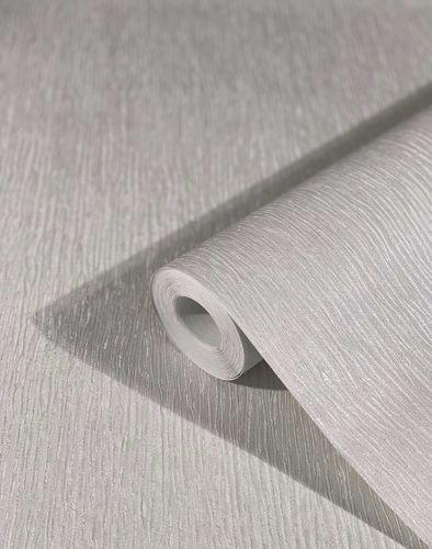 Tapete Vlies Striche Satin Metallic grau 32622
