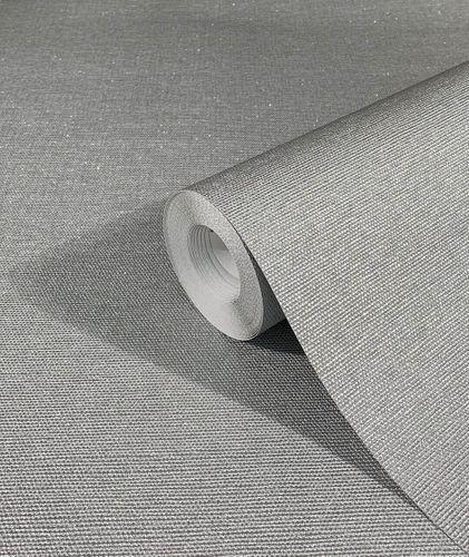 Tapete Vlies Einfarbig Struktur Metallic silber 32626