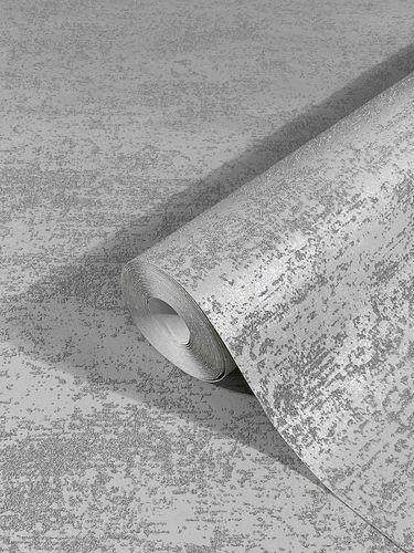 Non-Woven Wallpaper Sand Grain Plain grey Gloss 32508
