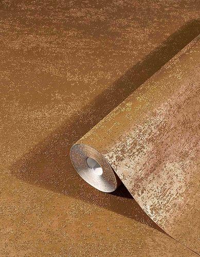 Non-Woven Wallpaper Sand Grain Plain gold brown 32511