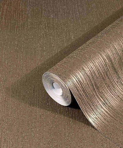 Non-Woven Wallpaper Sand Grain Stripes dark brown 32518