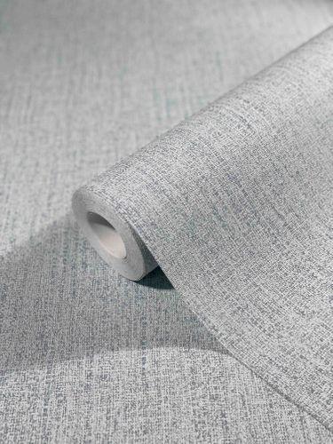 Tapete Vlies Textil-Design Einfarbig blau grau 32673