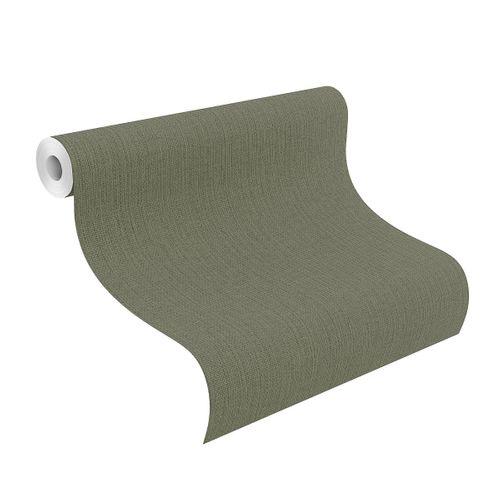Tapete Vlies Rasch Textil-Muster dunkelgrün 407945