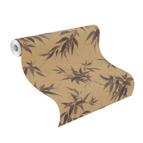 Tapete Vlies Rasch Floral Bambus gold braun 409765